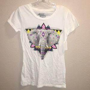 Tops - NWOT Bittersweet Juniors Elephant T-Shirt Sz XS